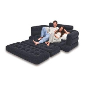 INTEX Inflatable Pull-Out Sofa & Queen Bed Mattress Sleeper | 68566E