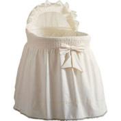 Baby Doll Sea Shell Bassinet Bedding, Ecru