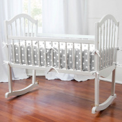 Grey and White Dots and Stripes Cradle Bumper