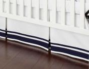 Safe Sleep Navy Crib Skirt