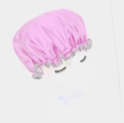 Beautiful Home High Quality Thicken Double-deck Waterproof Shower Cap-multicolor