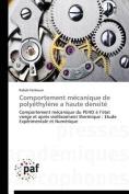 Comportement Mecanique de Polyethylene a Haute Densite  [FRE]