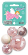 Angel Marbles Game Net Set 25 Pc Glass Mega Marbles Holiday Toy