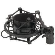 Black Universal Microphone Shock Mount for Large Diameter Condenser Mic Metal