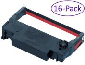 Bixolon (RRC-201BR-16) 16-Pack KD02-00057A Black/Red Ribbon Cartridge for SRP-275 & SRP-270