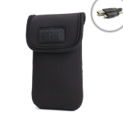 USA Gear FlexArmor Smartphone Case Sleeve with Protective Neoprene & Belt Loop for Samsung Galaxy S4 Mini , HTC One S , Motorola DROID RAZR M , Nokia Lumia 820 , Sony Xperia T & many more! * Includes Micro-USB Charge Cable *
