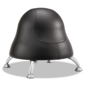 "Runtz Ball Chair, 12"" Diameter x 17"" High, Black Vinyl"