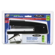 747 Classic Stapler Value Pack w/Staples and Remover, 20-Sheet Capacity, Black
