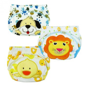 Tai523 3pcs Baby Kids Potty Training Pants Washable Cloth Nappy Nappy Underwear