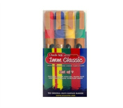 Chalk Ink Classic Wet Wipe Markers, 1mm, 4-Pack