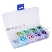 Beadnova 4mm 1000pcs Tiny Satin Lustre Glass Pearl Round Beads Assortment Mix Lot for Jewellery Making - Set M02