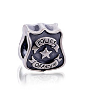 Police Officer 925 Sterling Silver Charm Bead for Pandora European Charm Bracelets