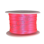 "1/8""(3mm) Double Faced Satin Ribbon 100 Yards - Neon Pink"