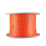 "1/8""(3mm) Double Faced Satin Ribbon 100 Yards - Neon Orange"