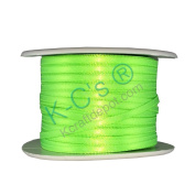 "1/8""(3mm) Double Faced Satin Ribbon 100 Yards - Neon Green"