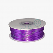 "1/8""(3mm) Double Faced Satin Ribbon 100 Yards - Purple"