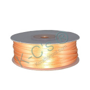 "1/8""(3mm) Double Faced Satin Ribbon 100 Yards - Peach"