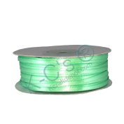 """1/8""""(3mm) Double Faced Satin Ribbon 100 Yards - Mint Green"""