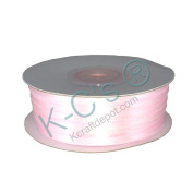 """1/8""""(3mm) Double Faced Satin Ribbon 100 Yards - Light Pink"""
