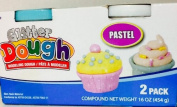 Glitter Modelling Clay Dough ~ 2 Tubs ~ Pastel Green & White ~ Mould It! Shape It!