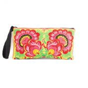Changnoi 2 Rose Hill Tribe Clutch Bag Made By Hmong Thailand Handbags Fair Trade