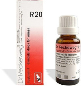 2 LOT X Dr. Reckeweg - Homoeopathic Medicine - R20 Glandular Drops for Women