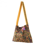 Changnoi Mocha Bird Hmong Bag Hill Tribe Tote Bags Short Embroidered Strap