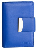 Women's Blue Genuine Leather Wallet Bellugio One Size