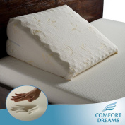 Elegant Memory Foam Bed Wedge Pillow, Adds Comfort for Back/Joint Pain. Supports Relief for Acid Reflux/Apnea. Get a Good Night's Rest in Peace with These Pillows.