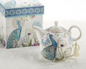 Porcelain Tea for One in Gift Box, Peacock