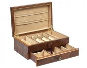 Bello Collezioni - Via Del Corso Luxury Briar Wood Men's/Women's Jewellery Box. Made in Italy