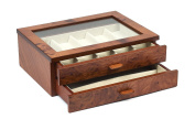 Bello Collezioni - Angelo Luxury Briar Wood Case For 9 Watches. Made in Italy