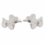 Duck Toy With Wheels Cufflinks, Sterling Silver, handcrafted