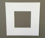 1 12x12 Square White Picture Mats with White Core Bevel Cut for 8x8 Pictures
