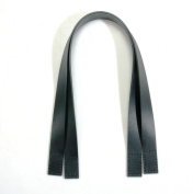 60cm byhands 100% Genuine Leather Black Purse Handles/Bag Handles