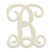 "UNFINISHEDWOODCO Single Vine Monogram Unfinished Letter, 50cm , Letter ""B"""