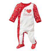 """I Love Santa"" First Moments Unisex Baby Coverall"