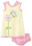 Bonnie Baby Baby-Girls Infant Flower Appliqued Romper