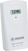 Meade TS33C-M Temperature and Humidity Sensor with LCD, White