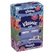 Kleenex Ultra Facial Tissue Regular (Pack of 4), 120 count Each, 3 ply, White