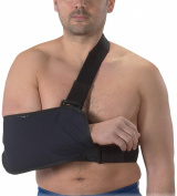 Bilt-Rite Mastex Health Arm Sling with Immobilising Strap, Navy Blue, Large