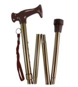 DuraCare Premium Luxury Copper Adjustable Folding Cane Travel Walking Stick - Copper