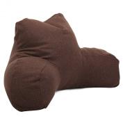 Majestic Home Goods Loft Reading Pillow, Dark Chocolate