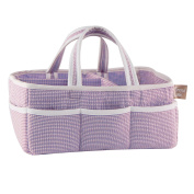Trend Lab Lilac Gingham Seersucker Storage Caddy, Purple