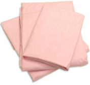 Cot Sheets (Fitted, Flat, Sets), 4 Piece Cot Sheet and Pillow Case Set - pink 1 cot sheet 80cm x 190cm , 1 cot flat sheet 160cm x 240cm , 2 pillow cases 50cm x 80cm