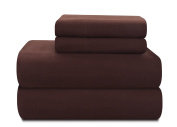 Pointehaven Heavy Weight 100-Percent Cotton Flannel Twin Extra Large Sheet Set, Chocolate