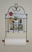 J & J Wire Victorian Mag Double Toilet Paper/Towel Holder