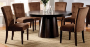 Furniture of America Primrose7-Piece Round Table Dining Set, Espresso