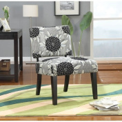 Coaster 902050 Patterned Fabric Upholstery Accent Chair, Big Flowers