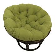 International Caravan 3312-MS-ML-IC Furniture Piece Rattan 110cm Papasan Chair with Micro Suede Cushion
